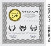 grey certificate diploma or...   Shutterstock .eps vector #1280760868