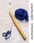 workshop of hand making a... | Shutterstock . vector #1280766925