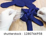 workshop of hand making a... | Shutterstock . vector #1280766958