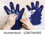 workshop of hand making a... | Shutterstock . vector #1280766982