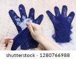workshop of hand making a... | Shutterstock . vector #1280766988