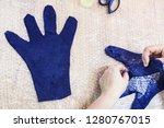 workshop of hand making a... | Shutterstock . vector #1280767015