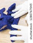 workshop of hand making a... | Shutterstock . vector #1280767045
