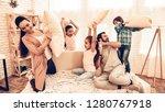 happy children with parents... | Shutterstock . vector #1280767918