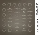 vintage decor elements and... | Shutterstock .eps vector #1280768755