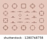 vintage decor elements and... | Shutterstock .eps vector #1280768758