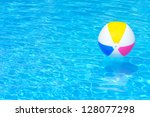 inflatable ball floating in... | Shutterstock . vector #128077298