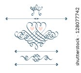 vector set of calligraphic...