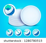 vector cotton pad for female... | Shutterstock .eps vector #1280780515