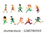 vector sport people running... | Shutterstock .eps vector #1280780545