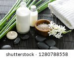 spa setting with white flower... | Shutterstock . vector #1280788558