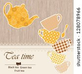 template of a cafe menu   Shutterstock .eps vector #128078966