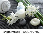 spa setting with white flower ... | Shutterstock . vector #1280792782