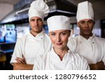 group of chefs standing with... | Shutterstock . vector #1280796652