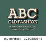 vector old fashioned alphabet... | Shutterstock .eps vector #1280800948