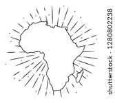map of africa. hand drawn... | Shutterstock .eps vector #1280802238