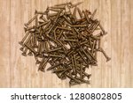 the image of screws close up   Shutterstock . vector #1280802805