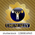 gold emblem or badge with... | Shutterstock .eps vector #1280816965