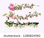 blossoming fruit branch... | Shutterstock . vector #1280824582