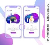 hajj app mobile user interface... | Shutterstock .eps vector #1280830102