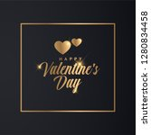 valentines day banner. luxury... | Shutterstock .eps vector #1280834458