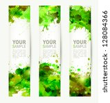 set of three headers. abstract... | Shutterstock .eps vector #128084366