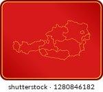 map of austria | Shutterstock .eps vector #1280846182