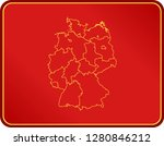 map of germany | Shutterstock .eps vector #1280846212