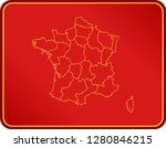 map of france | Shutterstock .eps vector #1280846215