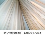 white flax fabric for drapery... | Shutterstock . vector #1280847385
