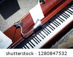 piano in small church. top view | Shutterstock . vector #1280847532