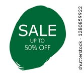 sale 50  off sign over art...   Shutterstock .eps vector #1280859922