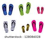 flip flops | Shutterstock . vector #128086028