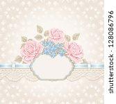 greeting card. vintage... | Shutterstock .eps vector #128086796