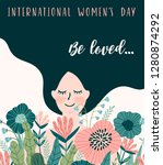international women s day.... | Shutterstock .eps vector #1280874292