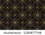 flower geometric pattern.... | Shutterstock . vector #1280877748
