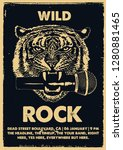 wild rock gig poster flyer...   Shutterstock .eps vector #1280881465