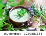 homemade soup made from local... | Shutterstock . vector #1280881855