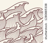 seamless abstract pattern.... | Shutterstock .eps vector #1280885338