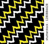 grunge chevron pattern. zigzag. ... | Shutterstock .eps vector #1280886628