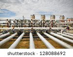 gas storage and pipeline | Shutterstock . vector #128088692