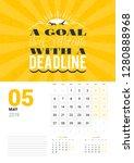 wall calendar template for may... | Shutterstock .eps vector #1280888968