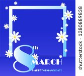 trendy design template 8 march. ... | Shutterstock .eps vector #1280889838