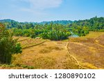 the banks of kangy river are... | Shutterstock . vector #1280890102