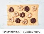 freshly baked christmas... | Shutterstock . vector #1280897092