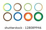 geometric circle entwined... | Shutterstock .eps vector #128089946