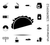 taco  sandwich icon. simple...