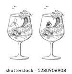 sea ocean graphic vector...   Shutterstock .eps vector #1280906908
