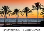 mediterranean beach sunset in... | Shutterstock . vector #1280906935