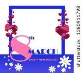 trendy design template 8 march. ... | Shutterstock .eps vector #1280911798